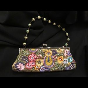 Beautiful hand-beaded purse with bead handles